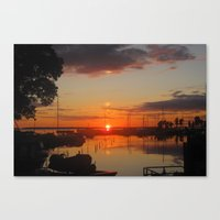 swedish Canvas Prints featuring Swedish Harbor by Dawin