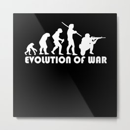 War Evolution Metal Print