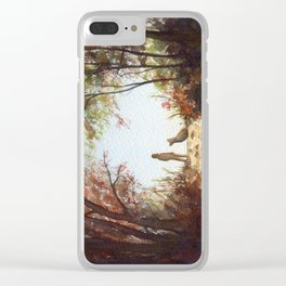 A Walk in the Autumn Woods Clear iPhone Case