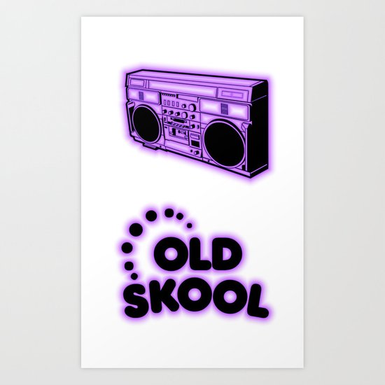 Old Skool Art Print