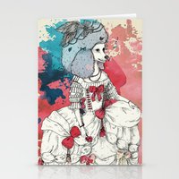 marie antoinette Stationery Cards featuring Marie Antoinette by Phie Hackett
