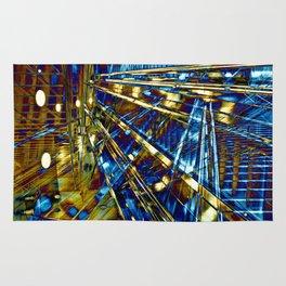 Blue Lines of Berlin Rug