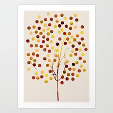 Tree of Life_Amber by Jacqueline and Garima Art Print