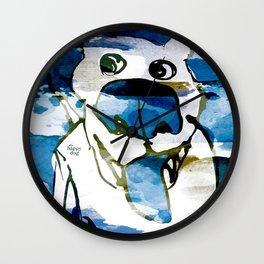 Citydog summergrunge Wall Clock