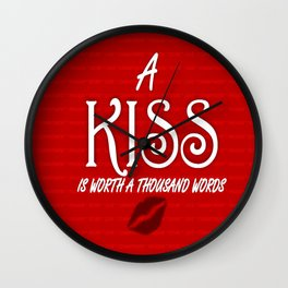 A Kiss Wall Clock