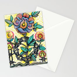 Chain Flower Stationery Cards
