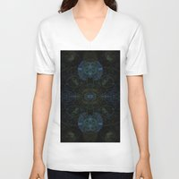 techno V-neck T-shirts featuring Techno Archeology by writingoverashes