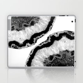 Gray Black White Agate Glitter Glamor #2 #gem #decor #art #society6 Laptop & iPad Skin
