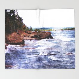 Upper Peninsula Landscape Throw Blanket