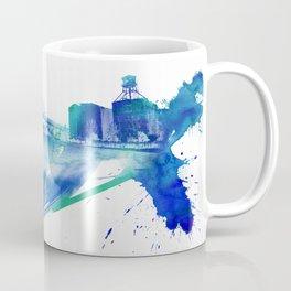 PDX Watercolor 2- Fremont Bridge Coffee Mug