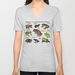Frogs of the Amazon Rainforest Unisex V-Neck