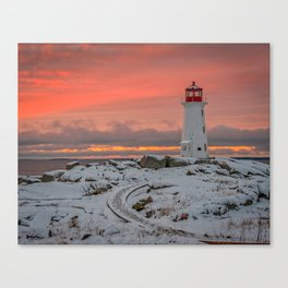 Peggys Winter Sunset Canvas Print