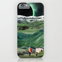 Eclipse in the green mountains iPhone Case