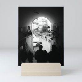 Salida Secreta de la Plaza Mayor - B&W street photography Mini Art Print