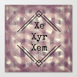 Xe/Xyr/Xem Pronouns Red Tint Canvas Print