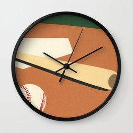 LA Baseball Field Wall Clock
