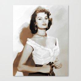 Sophia Loren, Actress Canvas Print