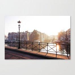 Amsterdam - Foggy Morning Canvas Print