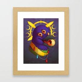 Raven Eyes Framed Art Print