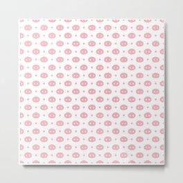Pig Pattern | Pink Piglet Farm Farmer Metal Print