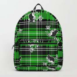 Cute rat on plaid background pattern.  Backpack