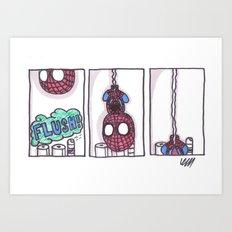 Spidey is weird Art Print