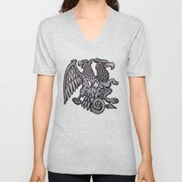 eagle and griffin symbol Unisex V-Neck