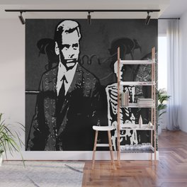 Dr. Hughes And The Skeleton In His Classroom Wall Mural