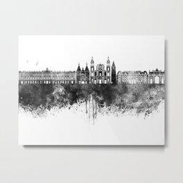 Nancy skyline in black watercolor Metal Print