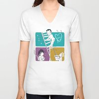 moriarty V-neck T-shirts featuring Catch Moriarty! by sadyna