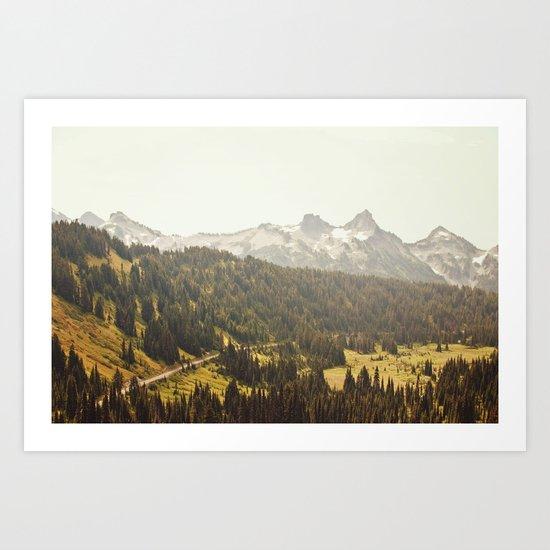 Road through the Mountains Art Print