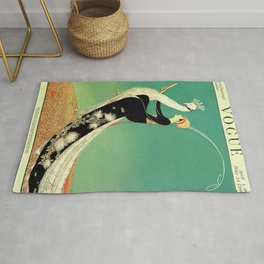Vintage Magazine Cover - Peacock Rug