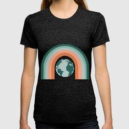 Chill - 70s art, earth, rainbow, muted, terracotta, rust, earth tones, trendy art, dorm T-shirt