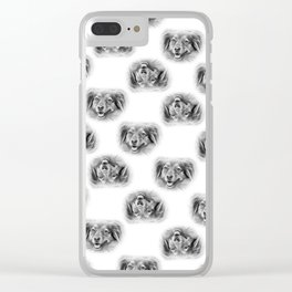 Pattern of a dog smiling Clear iPhone Case