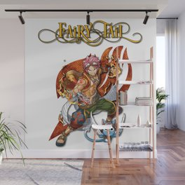 Fairy Tail Natsu and Happy Wall Mural