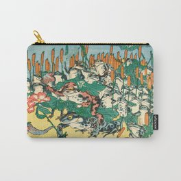 Fashionable Battle of Frogs by Kawanabe Kyosai, 1864 Carry-All Pouch