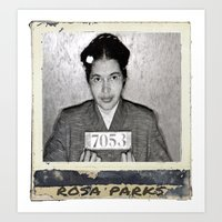 parks Art Prints featuring Rosa Parks by Arron Davis