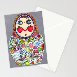 'Cheeks like apples' Matryoshka doll Stationery Cards