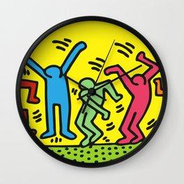 Dancing (Keith Haring) Wall Clock
