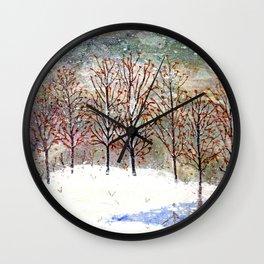 Snowy Trees along Moon Lake in Dewdrop Holler Wall Clock