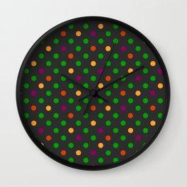 Colorful small polka dot Wall Clock