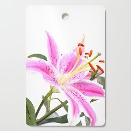 Pink Lily Illustration Cutting Board