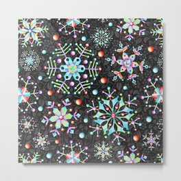 Snowflake Filigree Metal Print