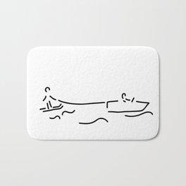 water-ski boat waterski Bath Mat