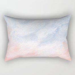 Good Morning - Pink and Orange Sunrise Seascape Rectangular Pillow