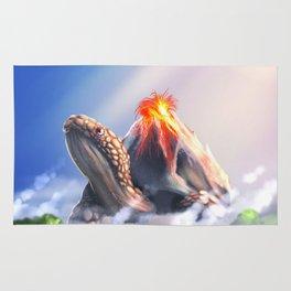 Volcano turtle Rug