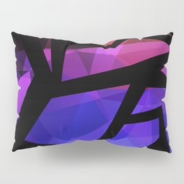Abstract print of triangles polygon print. Bright dark design colors Pillow Sham