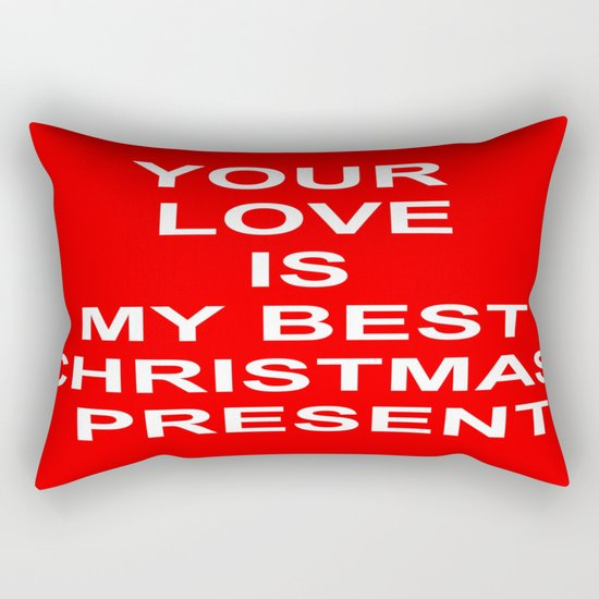 Christmas Red Rectangular Pillow