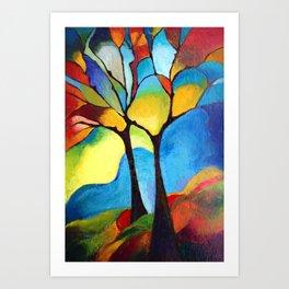 Grove in autumn Art Print