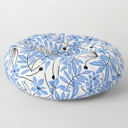 Spring Blues - Daffodils Floor Pillow